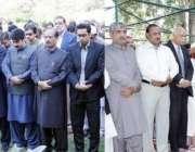 لاہور: صوبائی وزیر سکولز ایجوکیشن رانا مشہود احمد خان کی والدہ کی نماز ..