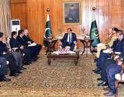 اسلام آباد: صدر مملکت ممنون حسین کو ترکی کے سفیر کی قیادت میں وفد ملاقات ..
