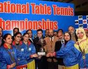 اسلام آباد: 53ویں نیشنل ٹیبل ٹینس کی تقریب تقسیم انعامات کے موقع پر کوریا ..