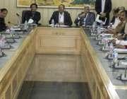 لاہور: ڈائریکٹر جنرل سپورٹس پنجاب ذوالفقار احمد گھمن سپورٹس افسران ..