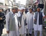 لکی مروت: ڈپٹی کمشنر بختیار خان نورنگ بازار کے دورہ کے موقع پر تجاوزات ..