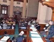 لاہور: اسپیکر رانا محمد اقبال خاں پنجاب اسمبلی کے پری بجٹ سیشن کی صدارت ..