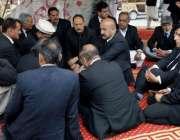 مظفر آباد: صدر سنٹر بارراجہ آفتاب راولا کوٹ بار کے وکلاء سے احتجاجی ..