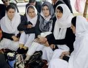 مظفر آباد: وکلاء کے احتجاجی دھرنے میں راولا کوٹ اور مظفر آباد سنٹرل ..