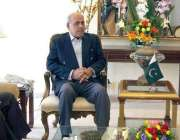 راولپنڈی: گورنر پنجاب ملک محمد رفیق رجوانہ سے وزیر اعظم کے مشیر عرفان ..