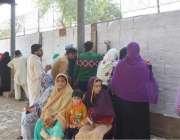 فیصل آباد: امیدوار ای ڈی او آفس کے باہر لگی لسٹوں میں اپنے نام تلاش کر ..