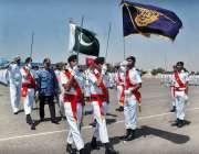 کراچی: چیئرمین سٹینڈنگ کمیٹی پورٹس اینڈ شپنگ سید غلام مسطفٰی شاہ مرین ..