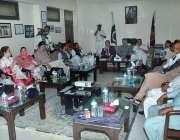 کراچی: چیئرمین سٹینڈنگ کمیٹی پورٹس اینڈ شپنگ سید غلام مسطفٰی شاہ اجلاس ..
