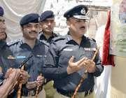 حیدر آباد: آئی جی پولیس سندھ اے ڈی خواجہ سخی پیر پولیس اسٹیشن میں رپورٹنگ ..