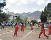 پشاور: انڈر 23گیمز کے موقع پر سوات اور دیرا پرکی کے مابین میچ کھیلا جا ..