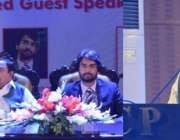 لاہور: صوبائی وزیر برائے ڈیزاسٹر مینجمنٹ مہر اعجاز اچلانہ یو سی پی ..