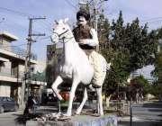 راولپنڈی: خیابان سر سید انتظامیہ کی جانب سے لگائے گئے ثقافتی ماڈل کا ..