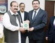 لاہور: صوبائی وزیر سکولز ایجوکیشن رانا مشہود احمد خاں معارف فاؤنڈیشن ..