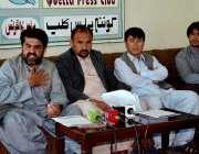 کوئٹہ: اینٹی کرپشن موومنٹ بلوچستان کے آرگنائزر فصل محمد نورزئی اور ..
