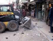 حیدر آباد: انسداد تجاوزات کا عملہ گاڑی کھاتہ کے قریب غیر قانونی تجاوزات ..