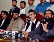 کوئٹہ: پاکستان پیپلز پارٹی بلوچستان کے صوبائی صدر علی مددجتک پریس کانفرنس ..