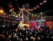 راولپنڈی: یوم علی (رض) کی مناسبت سے دربار شاہ چن چراغ کو برقی قمقوں سے ..