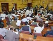کوئٹہ: یونس بلوچ میٹر پولیٹن کارپوریشن کے بجٹ اجلاس کی صدارت کر رہے ..
