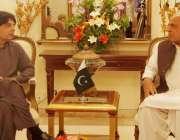 راولپنڈی: گورنر پنجاب ملک محمد رفیق رجوانہ اور وفاقی وزیر داخلہ چوہدری ..
