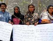 حیدر آباد: تھانہ بولان خان کے رہائشی بااثر افراد کے خلاف انصاف کے لیے ..