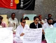 حیدر آباد: سولنگی سوشل الائنس ویلفیئر ایسوسی ایشن کی طرف سے اپنے مطالبات ..