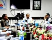 حیدر آباد: چیف ایگزیکٹر افسر حیسکو اسد اللہ چاروں آپریشن سرکلز کے افسران ..