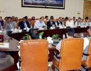 پشاور: گورنر خیبر پختونخوا انجینئر اقبال ظفر جھگڑا فاٹا میں پولیو کے ..