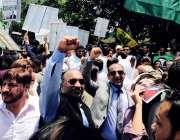 پیرس: مسلم لیگ ن فرانس کے زیر اہتمام وزیر اعظم نواز شریف کے حق میں ریلی ..