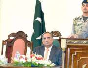 لاہور: صدر مملکت ممنون حسین نیشنل سکول آف پبلک پالیسی لاہور سے کورس ..