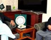 اسلام آباد: سرحدی امور کے وزیر عبدالقادر بلوچ سے وزیراعظم آزاد کشمیر ..