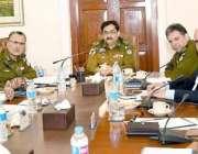 لاہور: آئی جی پنجاب کیپٹن (ر) عارف نوازخان سنٹرل پولیس آفس میں سپیشل ..
