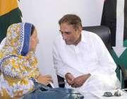 مظفر آباد: پیپلز پارٹی کے صدر چوہدری لطیب اکبر سے پیپلز پارٹی خواتین ..
