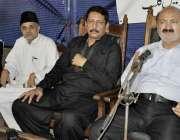 کراچی: کراچی پریس کلب میں آل پاکستان مسلم لیگ کے فقیر حسین بخاری اور ..
