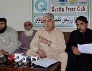 کوئٹہ: آل بلوچستان رکشہ یونین کوئٹہ کے صدر لالا محمد یوسف خان خلجی، ..