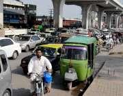 راولپنڈی: تحریک نفاذ جعفریہ کی ریلی کے باعث مری روڈ پر شدید ٹریفک جام ..