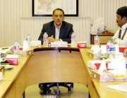 لاہور: صوبائی وزیر انڈسٹریز شیخ علاؤالدین محکمانہ اجلاس کی صدارت کر ..