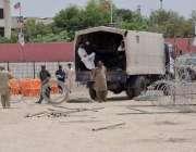 کوئٹہ: پاکستان تحریک انصاف کے جلسے کی تیاریوں کے سلسلے میں سیکیورٹی ..