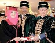 کوئٹہ: گورنر بلوچستان محمد خان اچکزئی کمز کالج کے کانووکیشن کے موقع ..