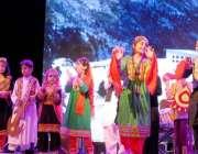 راولپنڈی: چیمبر آف کامرس کے زیر اہتمام راول ایکسپو میں سکول کے بچے ٹیبلو ..