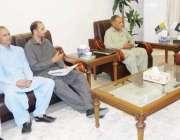 مظفر آباد: صدر آزاد کشمیر سردار مسعود خان سے نتل پریس کلب کا وفد ملاقات ..