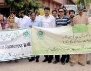 حیدر آباد: ڈسٹرکٹ الیکشن کمشنر ایجوکیشن آگاہی واک کی قیادت کر رہے ہیں۔