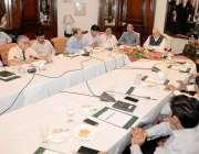 لاہور: سٹیرنگ کمیٹی کے چیئرمین خواجہ احمد حسان اورنج لائن منصوبے پر ..