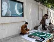 راولپنڈی: یوم پاکستان کے حوالے سے انتظامیہ کی جانب سے تصویری بینر لگائے ..