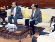 کراچی: میئر کراچی وسیم اختر سے صدر اسماعیلی کونسل برائے سدرن ریجن امین ..