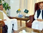 مظفر آباد: صدر آزاد کشمیر سردار مسعود خان سے وزیر تعمیرات عامہ چوہدری ..