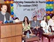 لاہور: صوبائی وزیر سکولز ایجوکیشن رانا مشہود احمد الحمراء کلچرل کمپلیکس ..