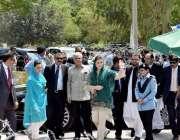 اسلام آباد: وزیر اعظم نواز شریف کی صاحبزادی مریم نواز جے آئی ٹی کے سامنے ..