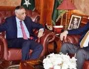 کراچی: گورنر سندھ محمد زبیر گورنر ہاؤس میں رومانیہ کے سفیرMr. Nicolae GOIA ..
