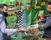 لاہور: عید ملادالنبی ﷺ کی آمد کے سلسلہ میں شہری گنبد روڈ سے سجاوٹ کا ..