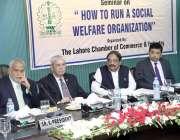 لاہور: سوشل ویلفیئر آرگنائزیشن کے موضوع پر منعقدہ سیمینار کے موقع پر ..